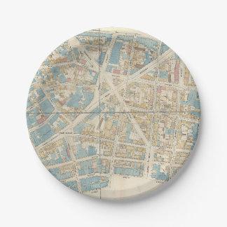 Plato De Papel Mapa de Manhattan