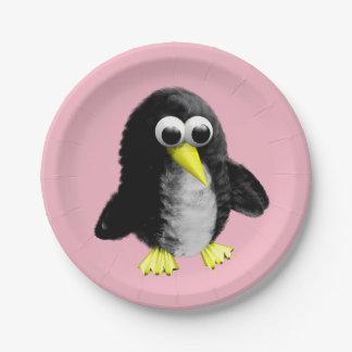 Plato De Papel Mi amigo el pingüino