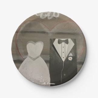 Plato De Papel Mis placas de papel especiales del día de boda