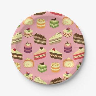 Plato De Papel Modelo colorido lindo de la fiesta del té de las