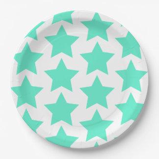 Plato De Papel Modelo de estrellas grande del trullo - placas de