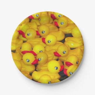 Plato De Papel Modelo de goma amarillo lindo de los duckies