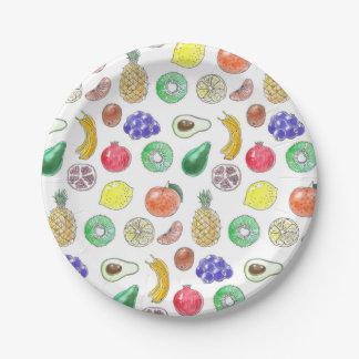 Plato De Papel Modelo de la fruta