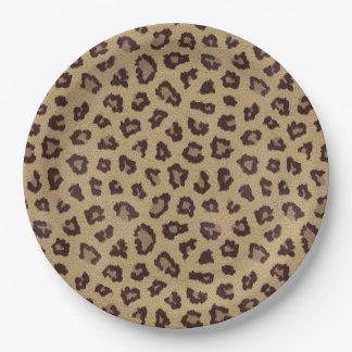Plato De Papel Modelo del estampado leopardo
