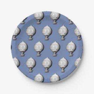Plato De Papel Modelo del globo del aire caliente del vintage de