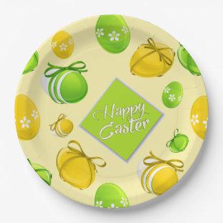 Plato De Papel Modelo elegante de los huevos de Pascua