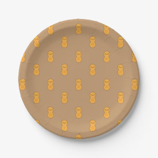Plato De Papel Modelo lindo del cacahuete