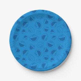 Plato De Papel Monstruo de la galleta el   yo modelo azul
