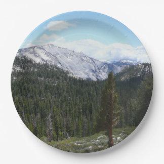 Plato De Papel Montañas de Sierra Nevada II de Yosemite