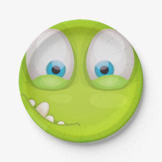 Plato De Papel Muglee verdoso - placa grande del fiesta del ojo