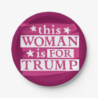 Plato De Papel Mujer rosada para las placas de papel temáticas