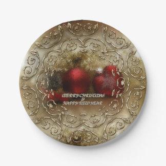Plato De Papel Navidad/Años Nuevos de placas del fiesta