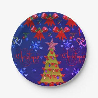 Plato De Papel Navidad de las placas de papel