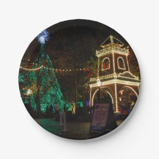 Plato De Papel Navidad en la ciudad del dólar de plata
