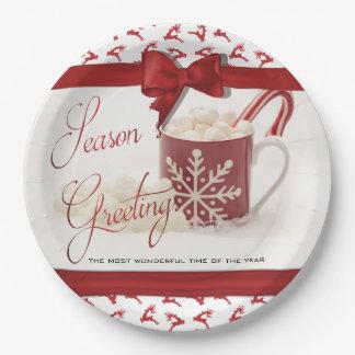 Plato De Papel Navidad Holidys, la mejor época del año