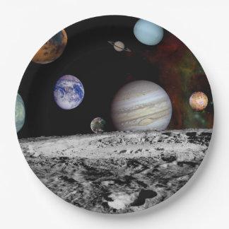 Plato De Papel Nueva Sistema Solar
