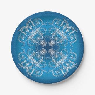 Plato De Papel Ornamento oriental étnico del círculo