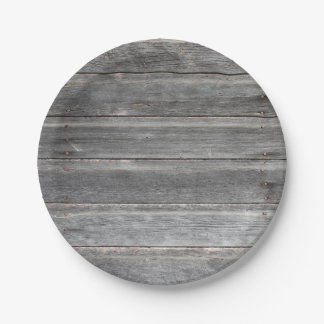Plato De Papel Pared de madera resistida rústica