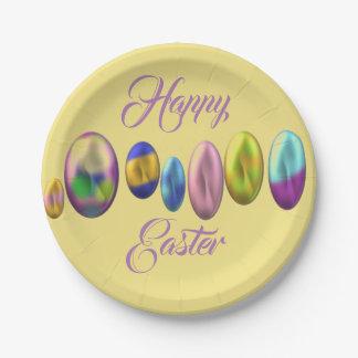 Plato De Papel Pascua feliz