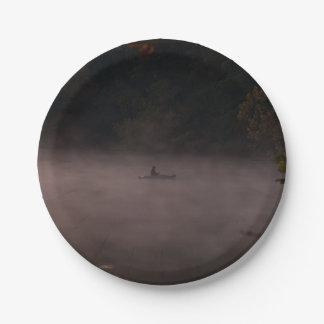 Plato De Papel Pesca de niebla temprana