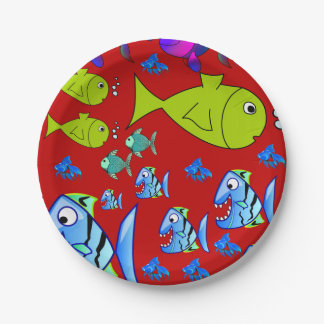 Plato De Papel Pescados de las placas de papel