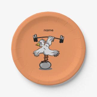 Plato De Papel Pesos de elevación del pollo