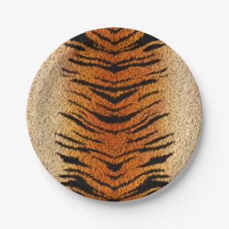 Plato De Papel Piel del animal del tigre de Bengala