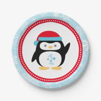 Plato De Papel Pingüino del cumpleaños el | de ONEderland del