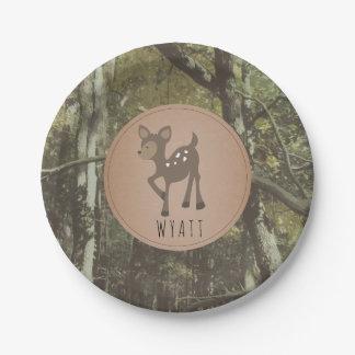 Plato De Papel Placa Camo de los ciervos de Wyatt