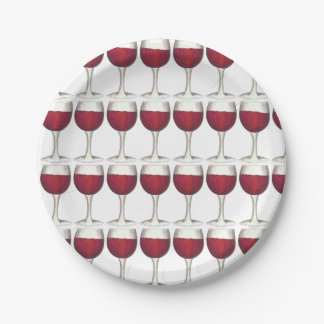 Plato De Papel Placa de cristal del cóctel de los vidrios del