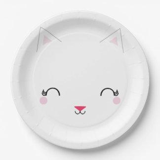 Plato De Papel placa de la fiesta de CUMPLEAÑOS del CAT del