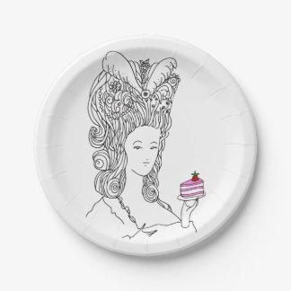 Plato De Papel Placa de Marie Antonieta