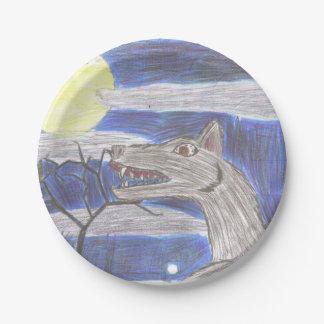 Plato De Papel Placa de papel de arte del niño del hombre lobo