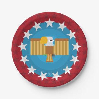 Plato De Papel Placa de papel de Eagle de la libertad (rojo) -