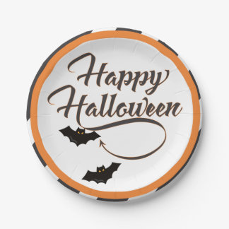 Plato De Papel Placa de papel de Halloween