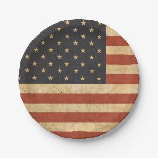 Plato De Papel Placa de papel de la bandera patriótica de los