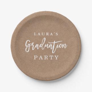 Plato De Papel Placa de papel de la fiesta de graduación rústica