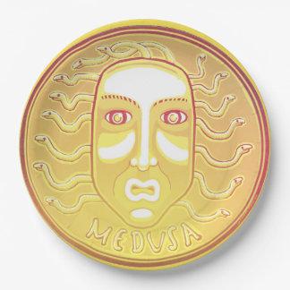 Plato De Papel Placa de papel de la moneda de la medusa