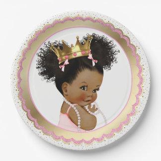 Plato De Papel Placa de papel de la princesa fiesta de bienvenida