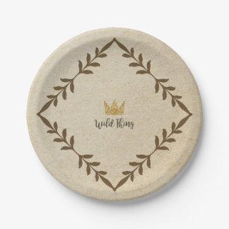 Plato De Papel Placa de papel de la vid salvaje de la cosa