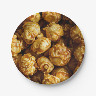 Plato De Papel Placa de papel de las palomitas del caramelo