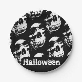 Plato De Papel Placa de papel del cráneo el   de Halloween