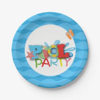 Plato De Papel Placa de papel del cumpleaños de la fiesta en la