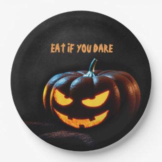 Plato De Papel Placa de papel del feliz Halloween espeluznante de