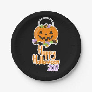 Plato De Papel Placa de papel del fiesta del feliz Halloween 2017