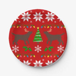 Plato De Papel Placa de papel del navidad de las astas de