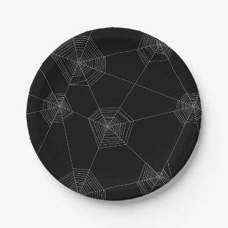 Plato De Papel Placa de papel del negro de los Web de araña