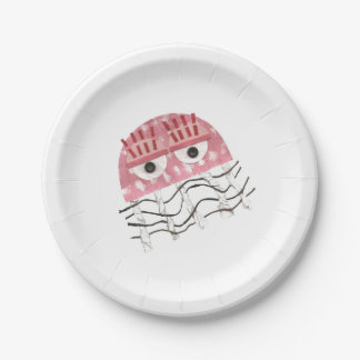 Plato De Papel Placa de papel del peine de las medusas