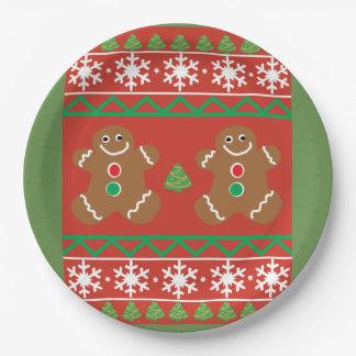 Plato De Papel Placa de papel del suéter feo del navidad