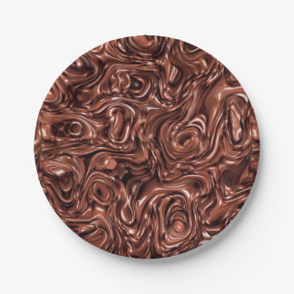 Plato De Papel Placa de papel derretida del chocolate para la